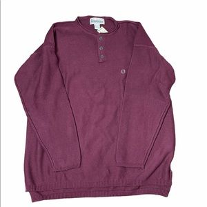 Aeropostale Mens Red Henley Pullover Knit New